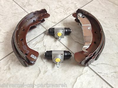 Vauxhall Astra G  Mk4 98-04 Four Rear Brake Drum Shoes+2 Wheel Cylinders  New