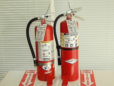 Fire Extinguisher - 10Lb ABC Dry chemical  - Lot of 2 [NICE]