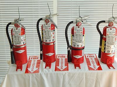 Fire Extinguisher 5Lb ABC Dry Chemical  - Lot of 4