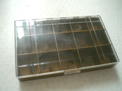 A Good Plastic Bonnand Dry Fly Box With Selection Of Dry Flies