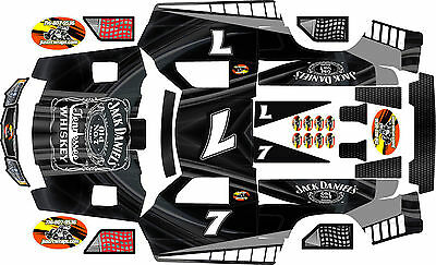 HPI Baja 5t and 5sc  Black  Jack Theme  body wrap decals stickers skins