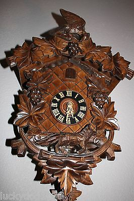 Vintage Black Forest Germany Musical Cuckoo Clock The