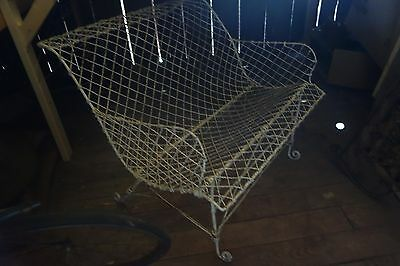 antique victorian wire garden settee
