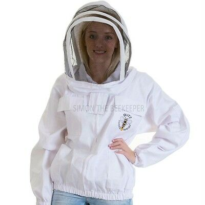 [UK] Beekeepers Buzz Work Wear Zip-Up White Fencing Veil Jacket- SELECT SIZE