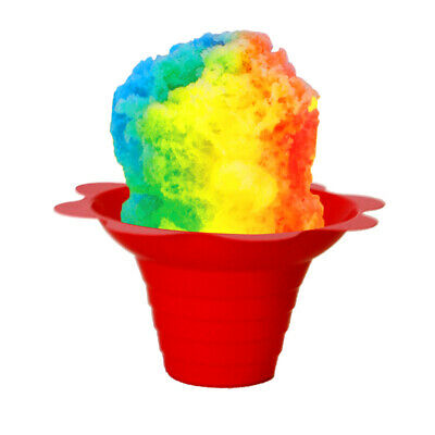 Shaved Ice / Sno Cone Flower Cups, 4 ounce (small), Case of 1000, Mixed Colors