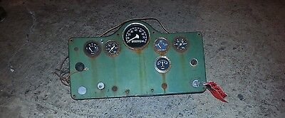1950s Mack Truck B Instrument Cluster Gauges with Ignition and key