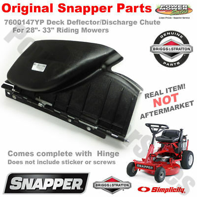 "7600147YP 28""- 33"" Mower Deck Deflector/Discharge Chute w/Hinge Ready to Install"