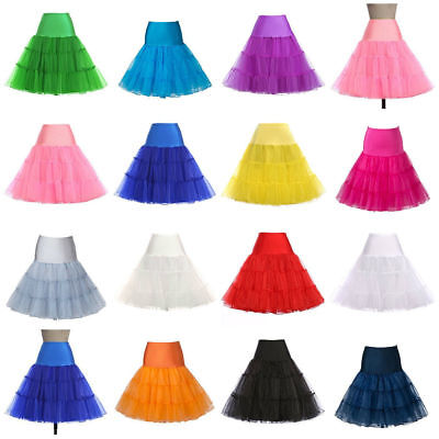 "26"" Retro Underskirt 50s Swing Vintage Tutu Petticoat Rockabilly Fancy Net Skirt"