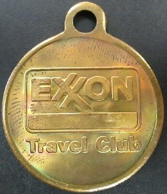 Exxon Travel Club key ring token!  Serial Numbered! 26 mm, 5.8 grams!