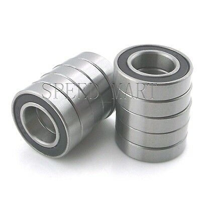 10PCS 6902-2RS 6902RS Deep Groove Rubber Shielded Ball Bearing (15mm*28mm*7mm)