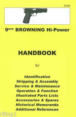 Browning Hi-Power Assembly, Disassembly Manual 9mm