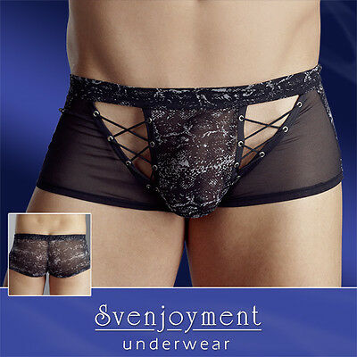 Boxer Transparent Impression Reptile Lingerie Homme Sexy Gay Fashion