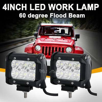 2PCS 4inch 30W Cree LED Work Light Bar Driving Lamp Flood Truck Offroad ATV SUV