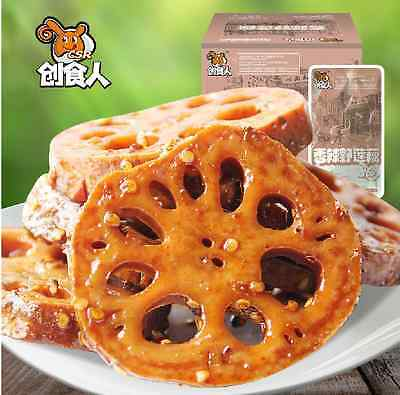 10 Small Vacuum-packed Chinese snack food Wild lotus root slices-香辣野莲藕片