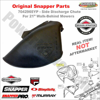 """7042965YP - Side Discharge Chute for 21"""" Walk Behind Mowers - ORIGINAL Snapper"""