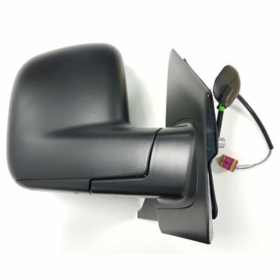 VW Transporter/Caravelle T5 03-10 Right Hand Black Wing Mirror, Electric, Heated