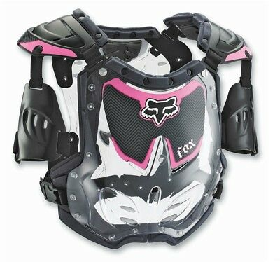 Fox Racing NEW Mx Youth R3 Pink Chest Protector Motocross Girls Body Armour