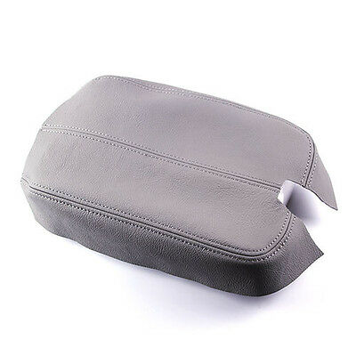 Gray Real Leather Center Console Lid Armrest Cover For 2008-2012 Honda Accord