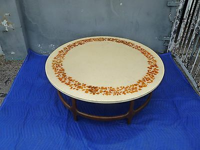 Unusual Mid Century Modern Glamourama Sparkle Resin And Wood Sculptural Table