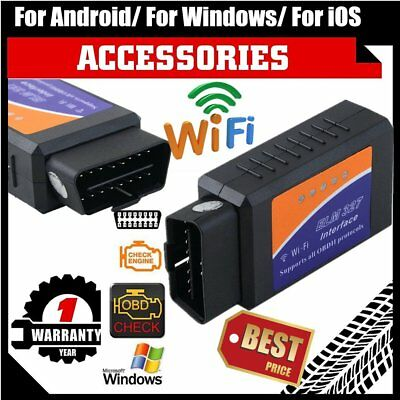WIFI ELM327 Wireless OBDII Auto Scanner Adapter Scan Tool for iPhone iPad OK!