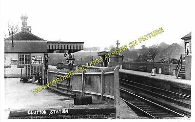 Clutton Railway Station Photo. Pensford - Hallatrow. Bristol to Radstock. (4)