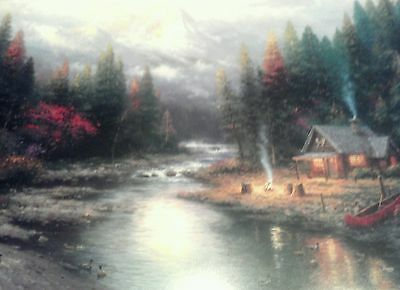 End of a Perfect Day II by Thomas Kinkade 11 x14 Framed & Matted Print with COA