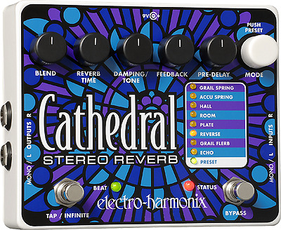 New Electro-Harmonix EHX Cathedral Stereo Reverb Guitar Effects Pedal!