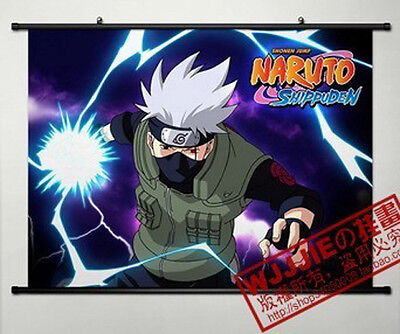 Anime Naruto Hatake Kakashi Home Decor Poster Wall Scroll 80*60CM HY468