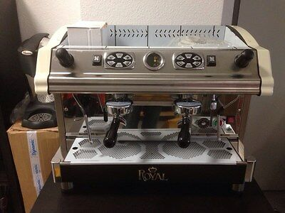 Kaffeemaschine Royal Tecnica Espressomaschine 2 gruppig, Made in Italy, Eiscafe