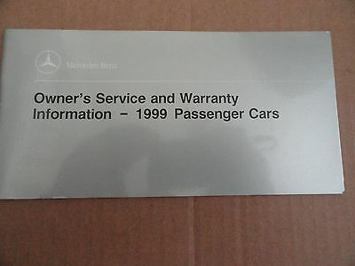 1999 Mercedes Benz Service Booklet Owners Manual SUPPLEMENT