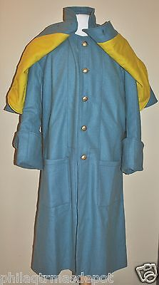Cavalry Great Coat - Enlisted - w/Yellow Under Cape - Sizes 32-50 - Civil War