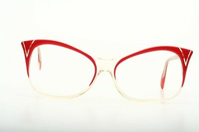 Cat-eye Vintage Brillenfassung in rot, MICHELE LAMY, Mod. Methisto EP6