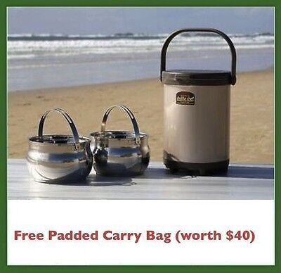Thermos Shuttle Chef 6L (2 x 3L) Thermal Magic Pot, Slow Cooker, Camping Caravan
