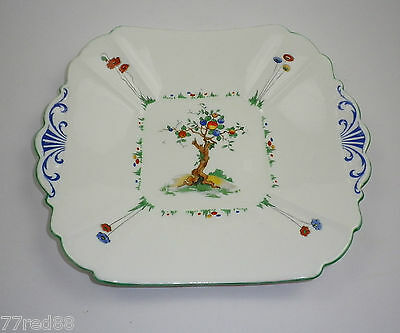 Shelley Art Deco Cake Plate Crabtree Pattern