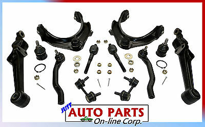 UPPER & LOWER CONTROL ARMS 4 TIE RODS 2 LOWER JOINTS FITS HONDA ACCORD 1998-02
