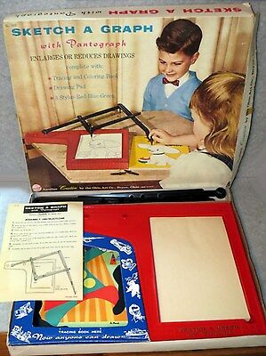 1962 Sketch A Graph with Pantograph (#503) Drawing Enlarger & Reducer - EUC