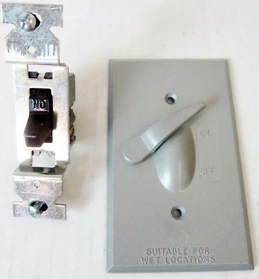 American Electric Sw-1 Lever Switch Cover And Single Pole Device, Suitable For