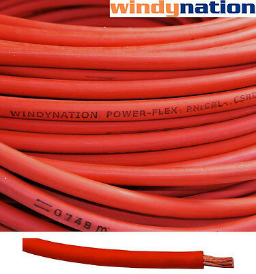 50' 4 AWG RED WELDING CABLE GAUGE COPPER WIRE BATTERY SOLAR RV CAR BOAT LEADS