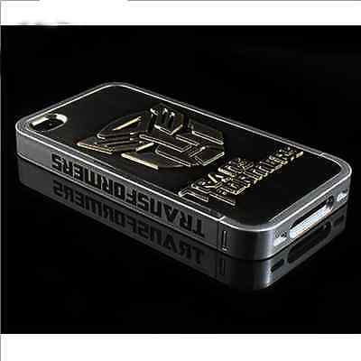 Transformers Rigid Plastic Deluxe Plating Hard Back Case Cover For iPhone 4S 4