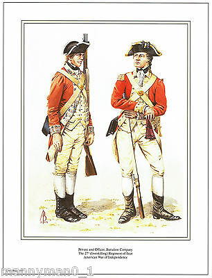 British Army signed Print Inniskilling Reg of foot American War of Independence