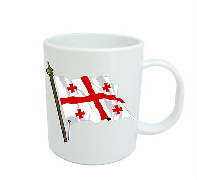 Georgian Flag  Coffee Mug Free Personalisation Georgia