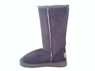 Ugg Boots Classic Tall, Synthetic Wool, Colour Grey, For Women and Men