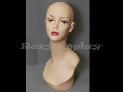 Female Mannequin Head Bust Wig Hat Jewelry Display BK #TinaF3