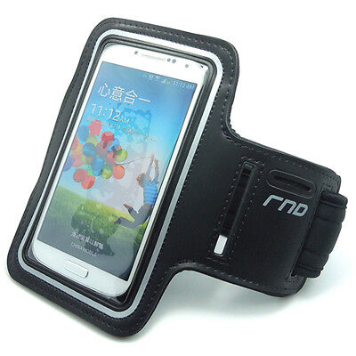 For Samsung Galaxy S4 (black): Slim-Fit Active Sports Armband