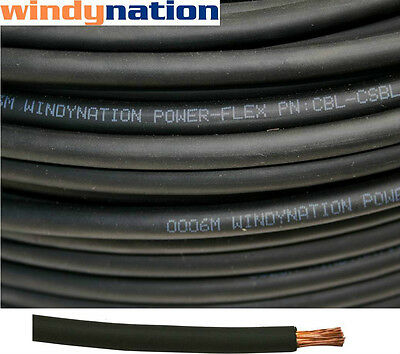 10' 2 Awg Black Welding Cable Gauge Copper  Wire Battery Solar Rv Car Boat Leads