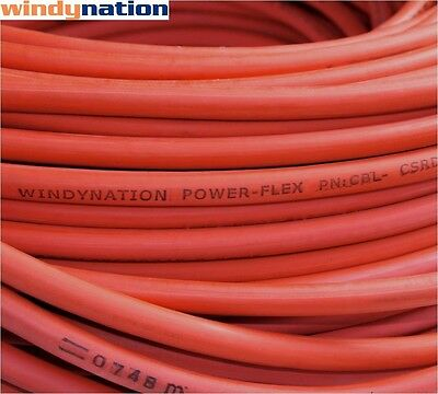 20' 2 Awg Red Welding Cable Gauge Copper Wire Battery Solar Rv Car Boat Leads
