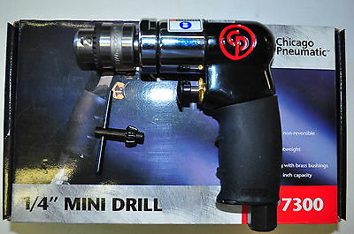 Chicago Pneumatic 1/4 Inch Drive Mini Air Drill Tool CPT7300 - 2,500 RPM