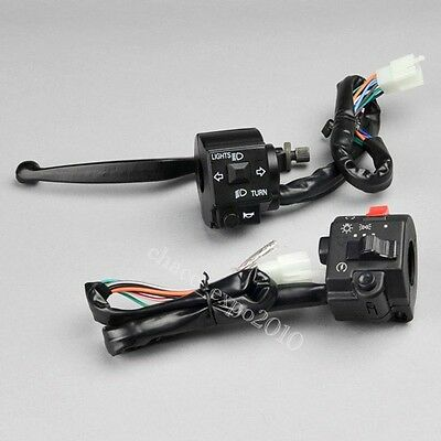 "Motorcycle 7/8"" Handlebar Horn Turn Signal Electrical Start Switch Suzuki 12V DC"