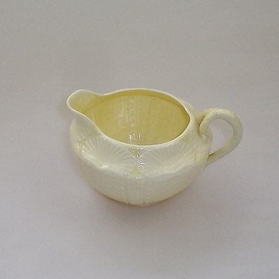 Vintage Belleek Milk Jug -  New Shell Pattern