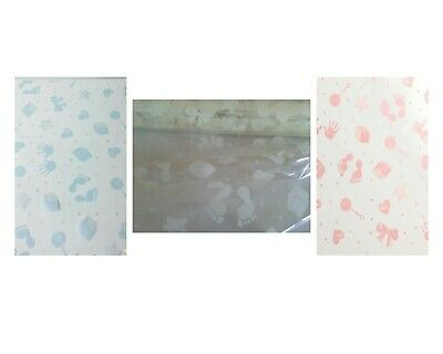 2m Baby Shower New Arrival Cellophane Wrap - Pink, Blue or Ivory